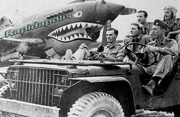 American Flying Tigers in a Ford GP