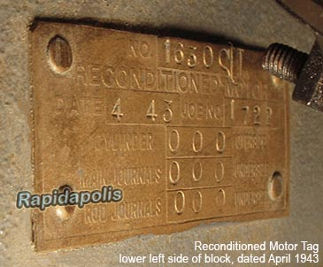 1941 GP reconditioned notor tag